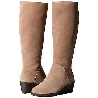 Aerosoles femei binocular genunchi piele inchis Toe genunchi High platforma cizme