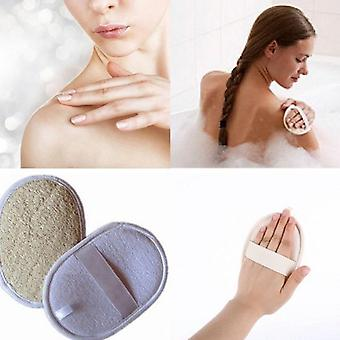 Round Natural Bristle Body Brush - Effective And Exfoliating Bath Loofah