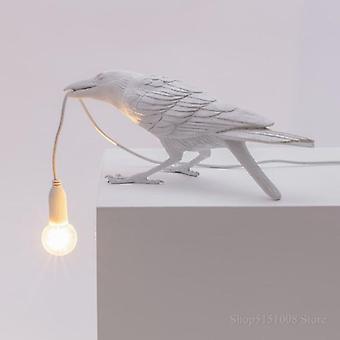 Lâmpada de parede de pássaro led para sala de estar, luzes de cama, restaurante - ornamentos animais