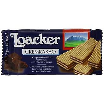 Loacker - Chocolate Creme Filled Wafer 45g x 25