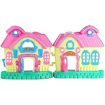 Opvouwbare speelgoedhuisje - met speel figuurtjes