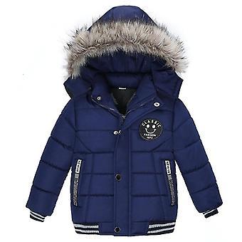מעילים וז'קטים מכותנה לתינוק חורף, בגדים חמים עם קפוצ'ון