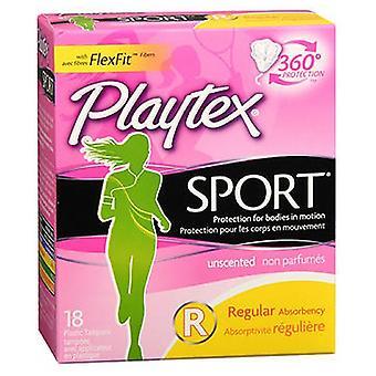 Playtex Sport Tampons, Regular Unscented 18 each