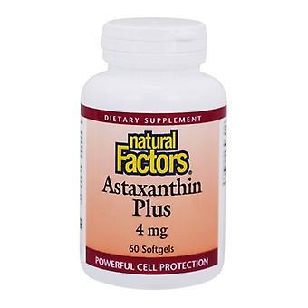 Luonnolliset tekijät Astaksantin Plus, 4 mg, 60 Softgels