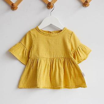 Flaer Sleeve Blouses Tops Cotton Casual For Kids Girl