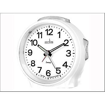 Acctim Elsie Sweeper Alarm Clock White 15572