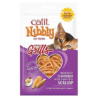 Catit Nibbly Grill Treats - Chicken & Scallop