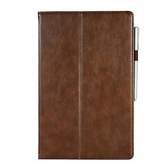 Leather Anti-fall case for Samsung Galaxy Tab S5e T720 T725 Brown