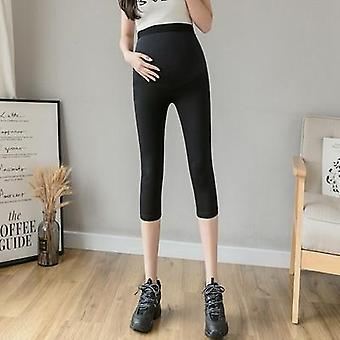 Summer Thin Maternity Short Legging, Cotton Belly Pregnancy Safety Pants