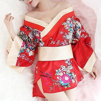 Sexy Kimono Nightgown Yukata For Woman Sleepwear Leisure Wear Pyjamas Robe