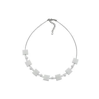 Collar Cuadrado Blanco-brillante 45cm