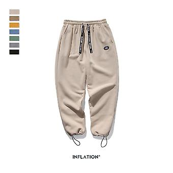 Super Loose Fit Men Sweatpants In Pure Color Loose Fit Retro Style