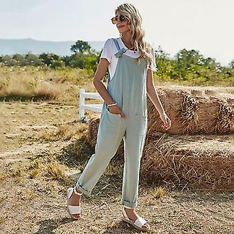High Waist Bow Strap Solid Casual Jumpsuits