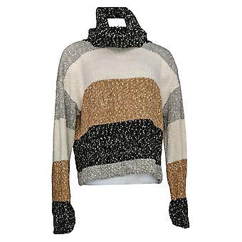 G.I.L.I. Got It Love It Women's Sweater Oversized Turtleneck Brown A371855