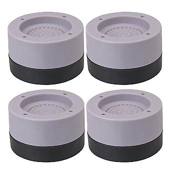 Washer and Dryer Feet Grey Anti-Vibration Pads Mats Raise 3.5cm Set of 4