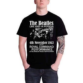 The Beatles Live ja henkilökohtaisesti 1963 virallinen miesten uusi musta T-paita