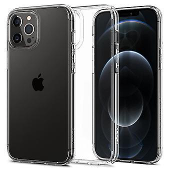 Caja para iPhone 12 Pro Max (6.7) en policarbonato y silicona transparente, ultra híbrido