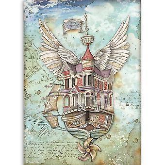 Stamperia Riisipaperi A4 Lady Vagabond lentävä alus