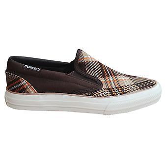 Converse Skid Grip EV Plaid Slip On Mens Trainers Canvas Shoes 100367 B47D