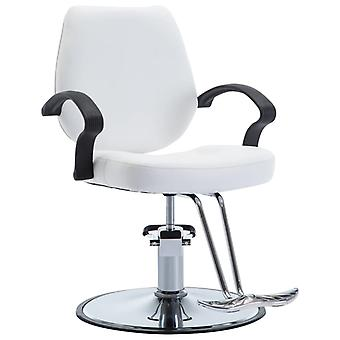 Hairdresser's Chair Leather Imitation White