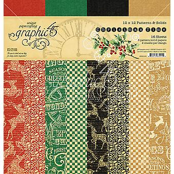 Graphic 45 Christmas Time 12x12 Patterns & Solid Pad