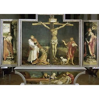 Isenheim altartavla ca 1513-1515 Mathias Grunewald affisch Skriv