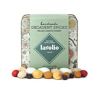 Lavolio decadent spiced confectionery gift tin (175g) - premium selection of covered nuts, coffee an