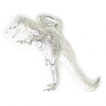 T-rex Tyrannosaurus Rex Sterling Silver Charm .925 X 1 Dinosaur Charms - 6307