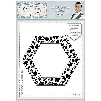 Sentimentally Yours Lavish Leaves Classic Frame Pre Cut Stamp