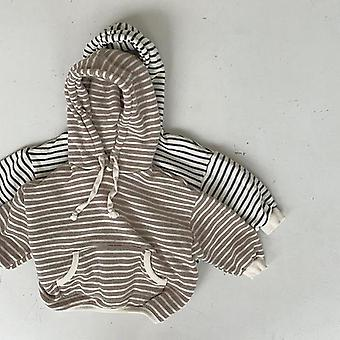 Children Casual Sweatshirts Striped Print