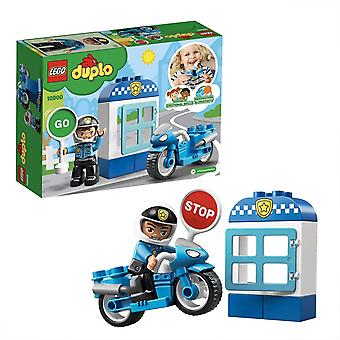 LEGO 10900 DUPLO Town Police Bike Building Bricks Set with Policeman Figure, Police Motorcycle Toy