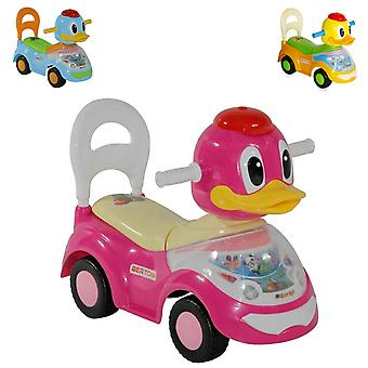Lorelli Rutscher, Kinderauto Ente mit Musikfunktion, Rückenlehne, ab 18 Monate