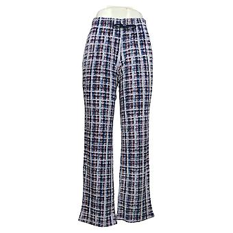 Cuddl Duds Women's Pajama Pants Plush Velvet Fleece Purple A381811