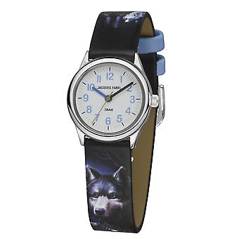 JACQUES FAREL Barn Armbandsur Analog Quartz Boys Faux Leather HCC 808 Wolf