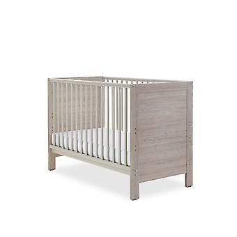 Ickle Bubba Grantham Mini Cot Bed Sprung Mattress - Grey Oak