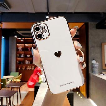 Electroplated Love Heart Phone Case