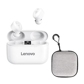 Lenovo HT18 Wireless Earphones with Storage Pouch and Built-in Microphone - Touch Control ANC Earbuds TWS Bluetooth 5.0 Earphones Earbuds Earphones White