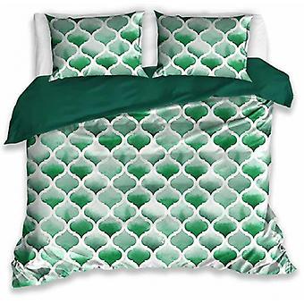 duvet cover 140 x 200 cm cotton green