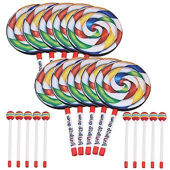 10pieces 7,9 tuuman tikkari muotoinen rumpu lyömäsoittimet koulutus lelut lapsille