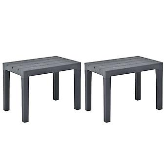 vidaXL garden benches 2 pcs. anthracite plastic
