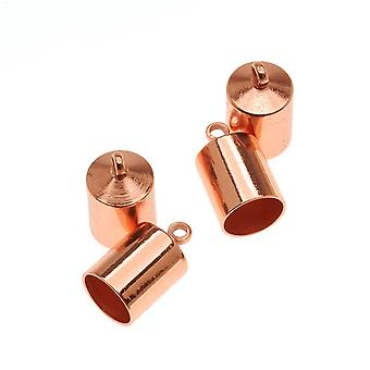 ينتهي الحبل Beadsmith، برميل مع حلقة 12mm، يناسب الحبل 6.5mm، 4 قطع، النحاس مطلي