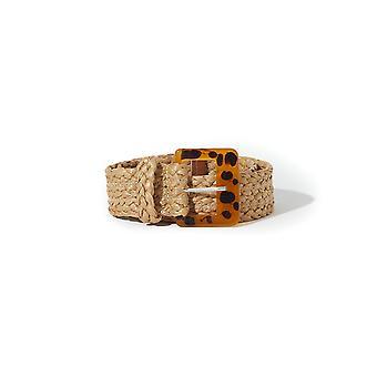 Shuuk Durable Quality Fashionable Braided Rope Belt & Tortoiseshell-Style Buckle