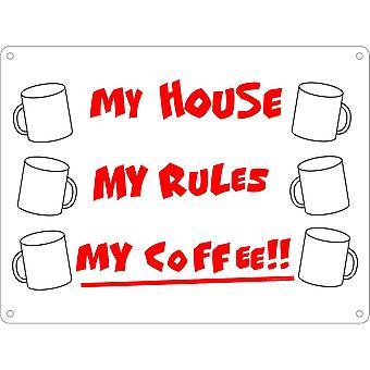 Grindstore بيتي قواعد بلدي القهوة القصدير لوحة صغيرة
