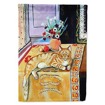 Les trésors de Caroline 7079Gf Orange Tabby Chat sur le drapeau de la table, petit, multicolore