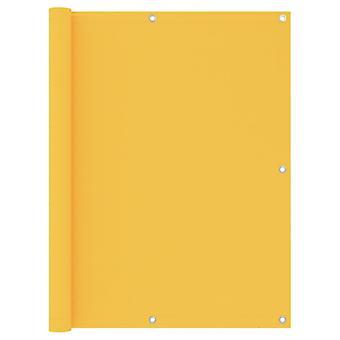 vidaXL Balcony Sight Protection Yellow 120x500 cm Oxford Fabric