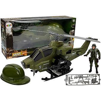 Playset elicottero militare con pilota & casco
