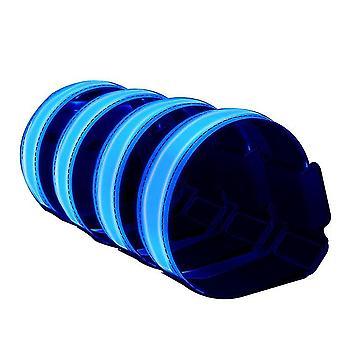 blå ledet armbånd lys glød bånd lyse opp sport armbånd den mørke sikkerhet kjører utstyr pakke med 2 x5165