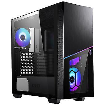 MSI MPG Sekira 100R Mid-Tower ARGB Gaming Case - Black Tempered Glass