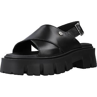 Sandales jaunes base noir