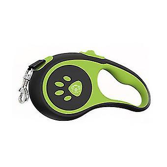 Automatické teleskopické trakční vodítko pro domácí psy, nylonové dog trakční lano (zelené)